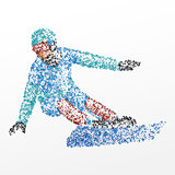 abstraction, snowboard, athlete