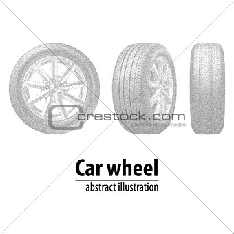 abstraction, car, disc, tire