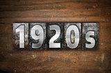 1920s Concept Metal Letterpress Type