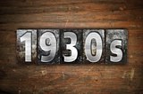 1930s Concept Metal Letterpress Type