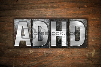 ADHD Concept Metal Letterpress Type