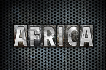 Africa Concept Metal Letterpress Type