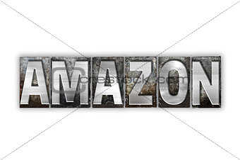 Amazon Concept Isolated Metal Letterpress Type