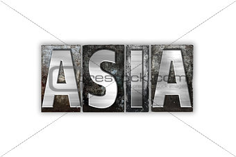 Asia Concept Isolated Metal Letterpress Type