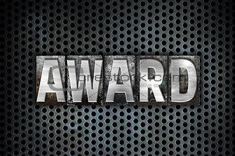 Award Concept Metal Letterpress Type