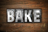 Bake Concept Metal Letterpress Type