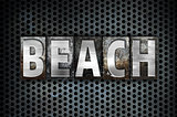 Beach Concept Metal Letterpress Type