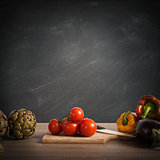 Recipe or menu  on blackboard
