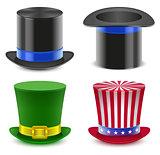 Set hat magician cylinder. Uncle Sams hat