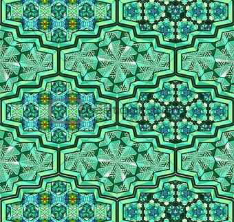 Arabic ornamental tiles