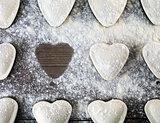 Heart shaped dumplings