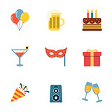 Party Icons Flat