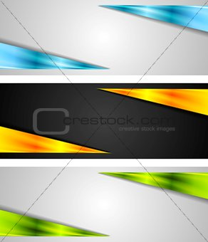 Abstract bright tech banners
