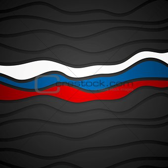 Corporate wavy bright abstract background. Russian flag colors