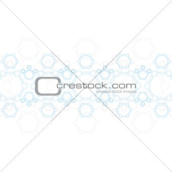 Abstract blue molecule structure. Medical background