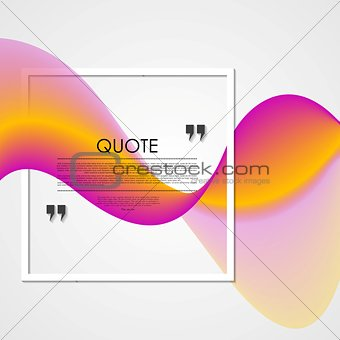 Abstract shiny waves and quote frame