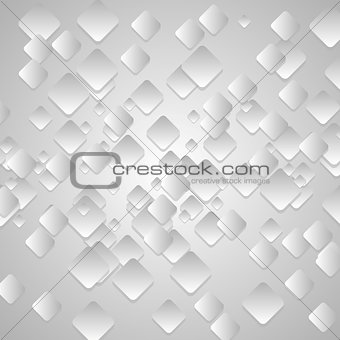 Grey tech geometrical vector background