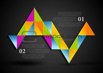 Abstract colorful triangles infographics design