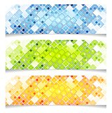 Abstract bright vector tech banners