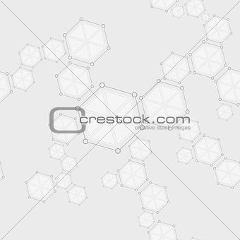 Molecular seamless structure abstract drawing background