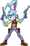 Cowboy bunny cartoon character