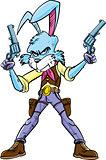 Cowboy bunny cartoon character