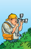 Cartoon paparazzi photographer