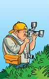 Cartoon paparazzi photographer