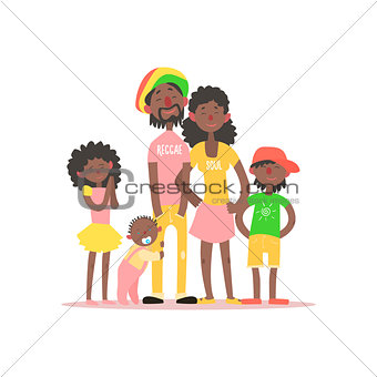 African Family. Vector Illustration