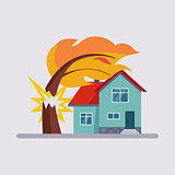 Estate Insurance Vector Illustartion