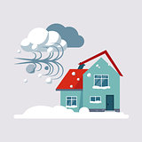 Hurricane Insurance Vector Illustartion