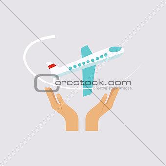 Flight Insurance Vector Illustartion