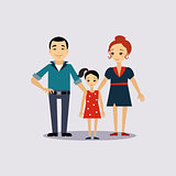 Family and Education Insurance Vector Illustartion