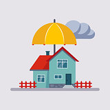House Insurance Vector Illustartion