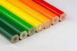 Conceptual crayons as energy label colors
