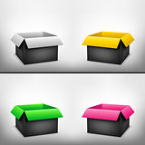 3D black multicolored box