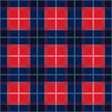 Rectangular seamless pattern in blue and red colors