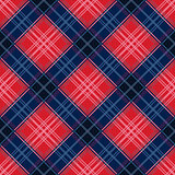 Diagonal seamless pattern in red and blue