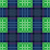 Rectangular seamless pattern in green and blue