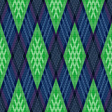 Rhombic seamless pattern in green and blue