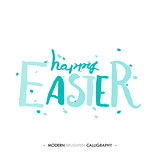 Happy Easter lettering write with brush pen