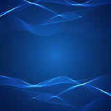 Blue background with lines
