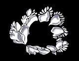 Abstract monochrome white flower. EPS10 vector illustration