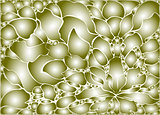 Mosaic  stones in the form of a floral pattern.  EPS10 vector abstract background