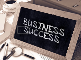 Business Success Concept Hand Drawn on Chalkboard.