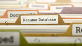 Resume Database Concept on File Label.