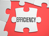 Efficiency - Puzzle on the Place of Missing Pieces.