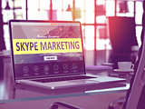 Skype Marketing Concept on Laptop Screen.