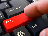 Buy - Written on Red Keyboard Key.