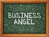 Business Angel - Hand Drawn on Green Chalkboard.